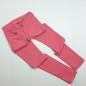 American Eagle Pink Stretch Skinny Jeans